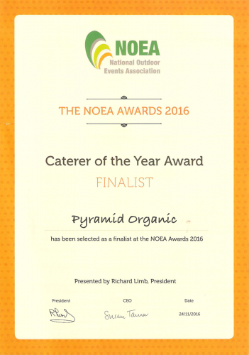 2016 NOEA awards - Caterer of the year